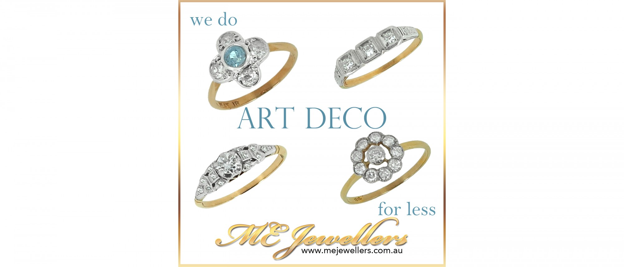 Art Deco Jewellery & Engagement Rings for Less