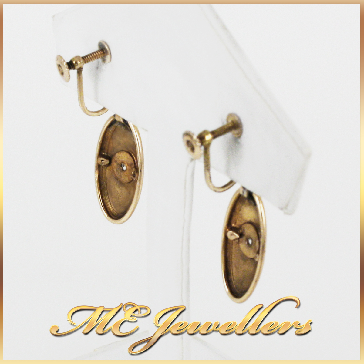 2789 Vintage Diamond Earrings back