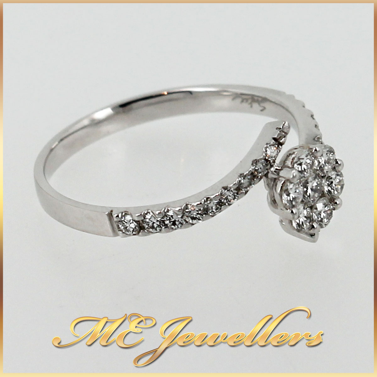3044 Floral Cluster Dress Ring angle 1