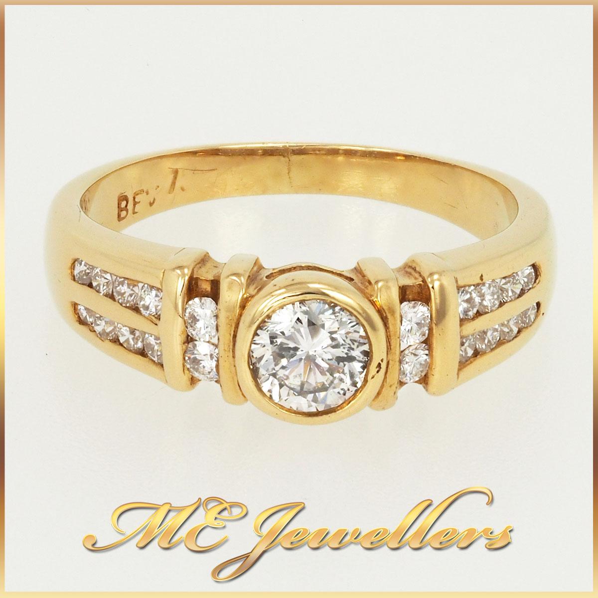 330 Round brilliant cut diamond ring 1