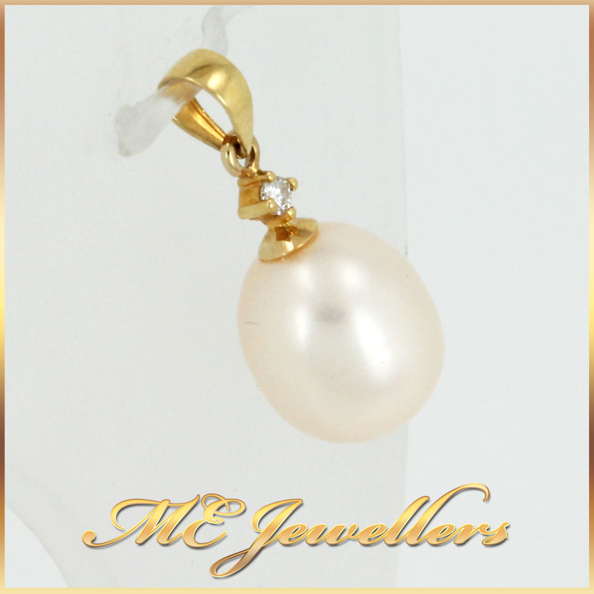Diamond Pearl Pendant