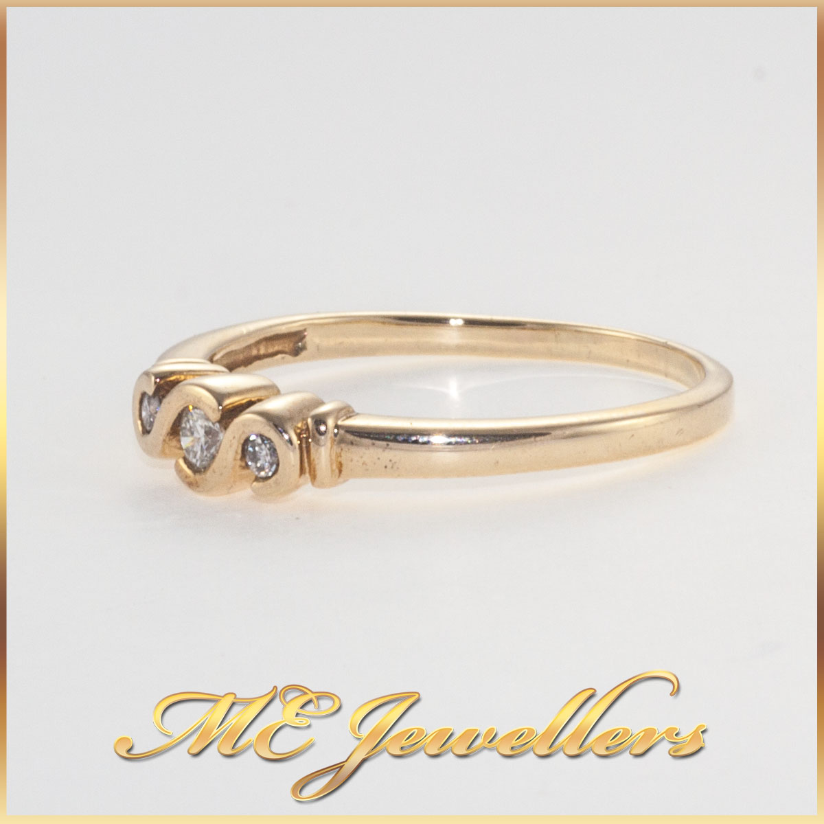 Trilogy twirl set Diamond Ring