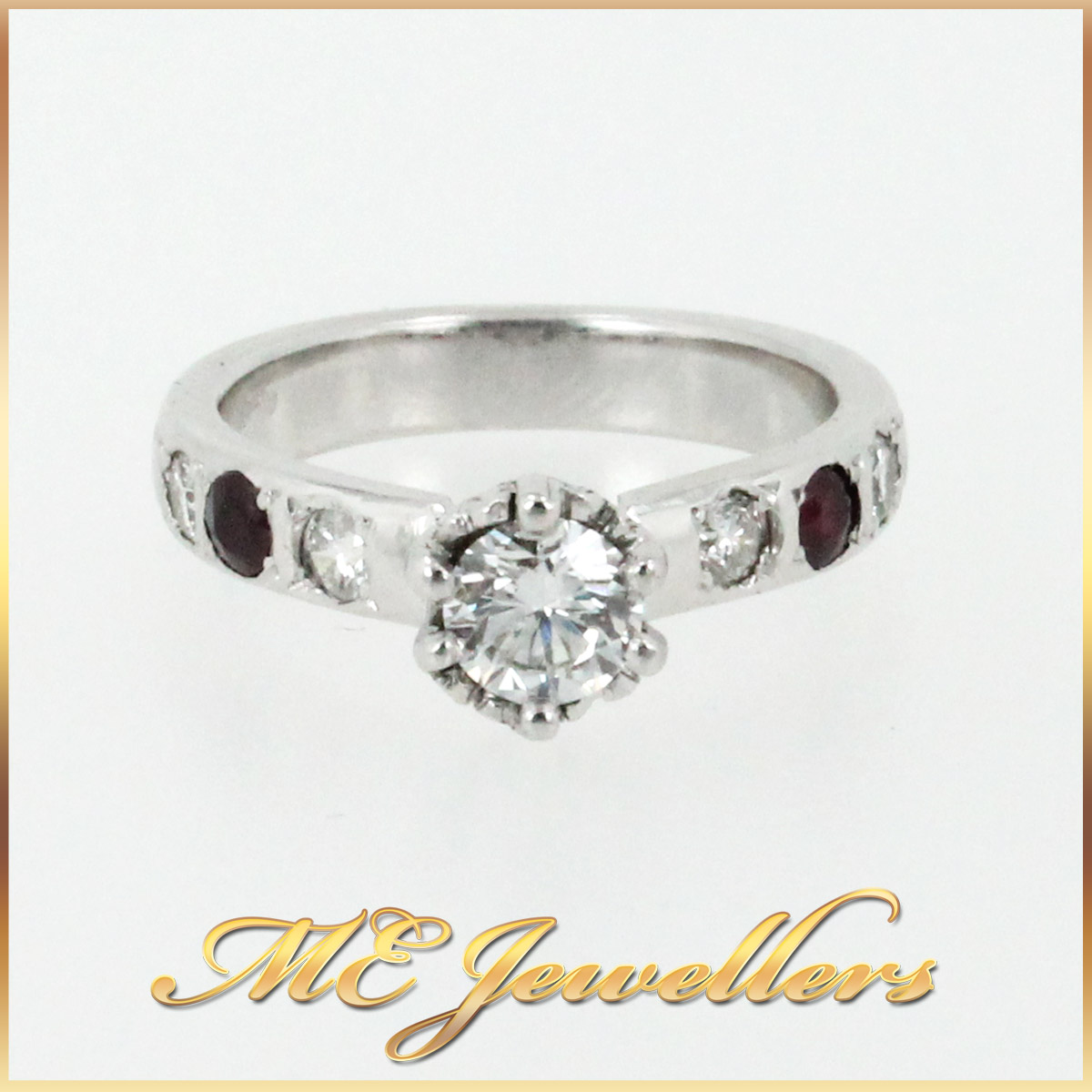 3671 Diamond Ruby Engagement Ring main