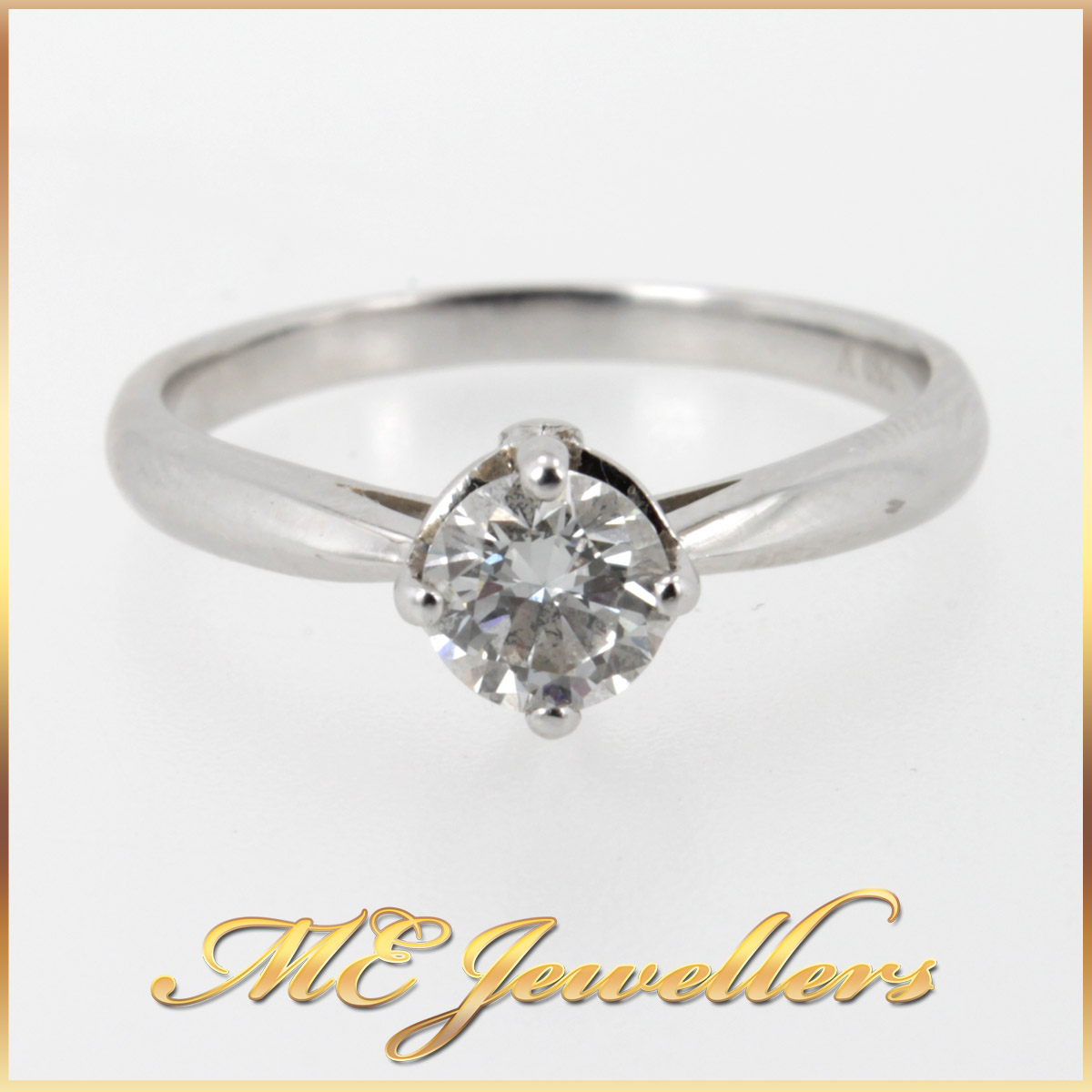 6404 Solitaire Diamond Engagement Ring main