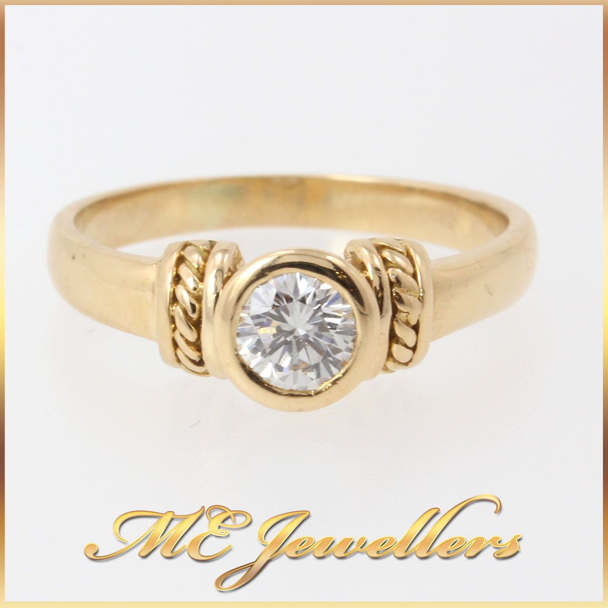 4110_0.45ct Round Brilliant Cut Solitaire Modern Engagement Ring 18kt 18k 18ct Yellow Gold (3)