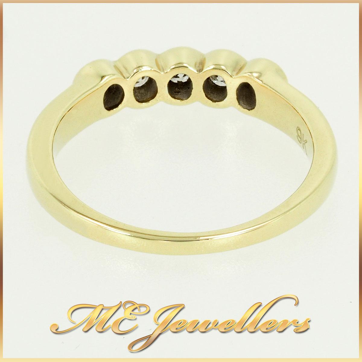 9k Diamond Yellow Gold Band