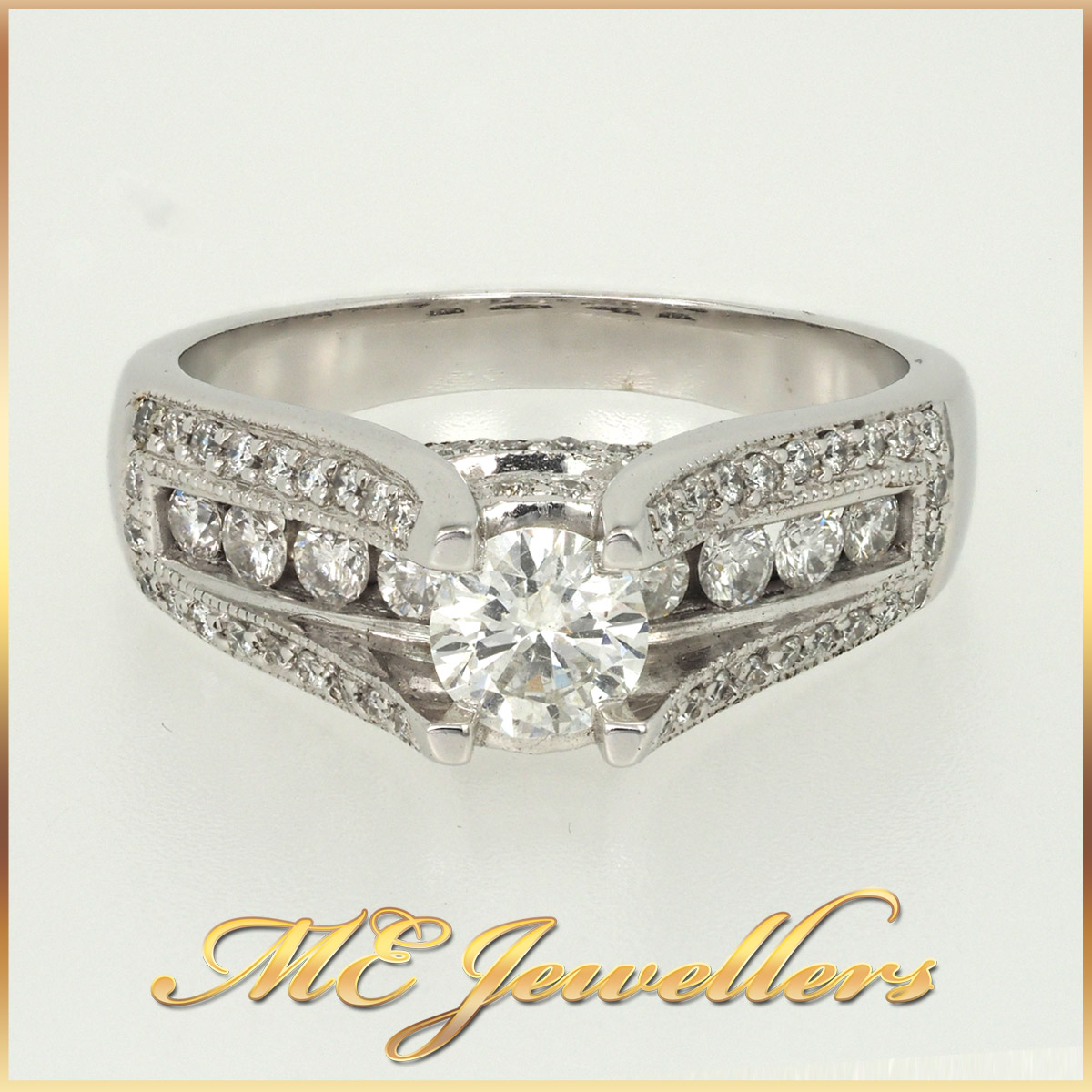 1.07CT Vintage Style Diamond Engagement Ring