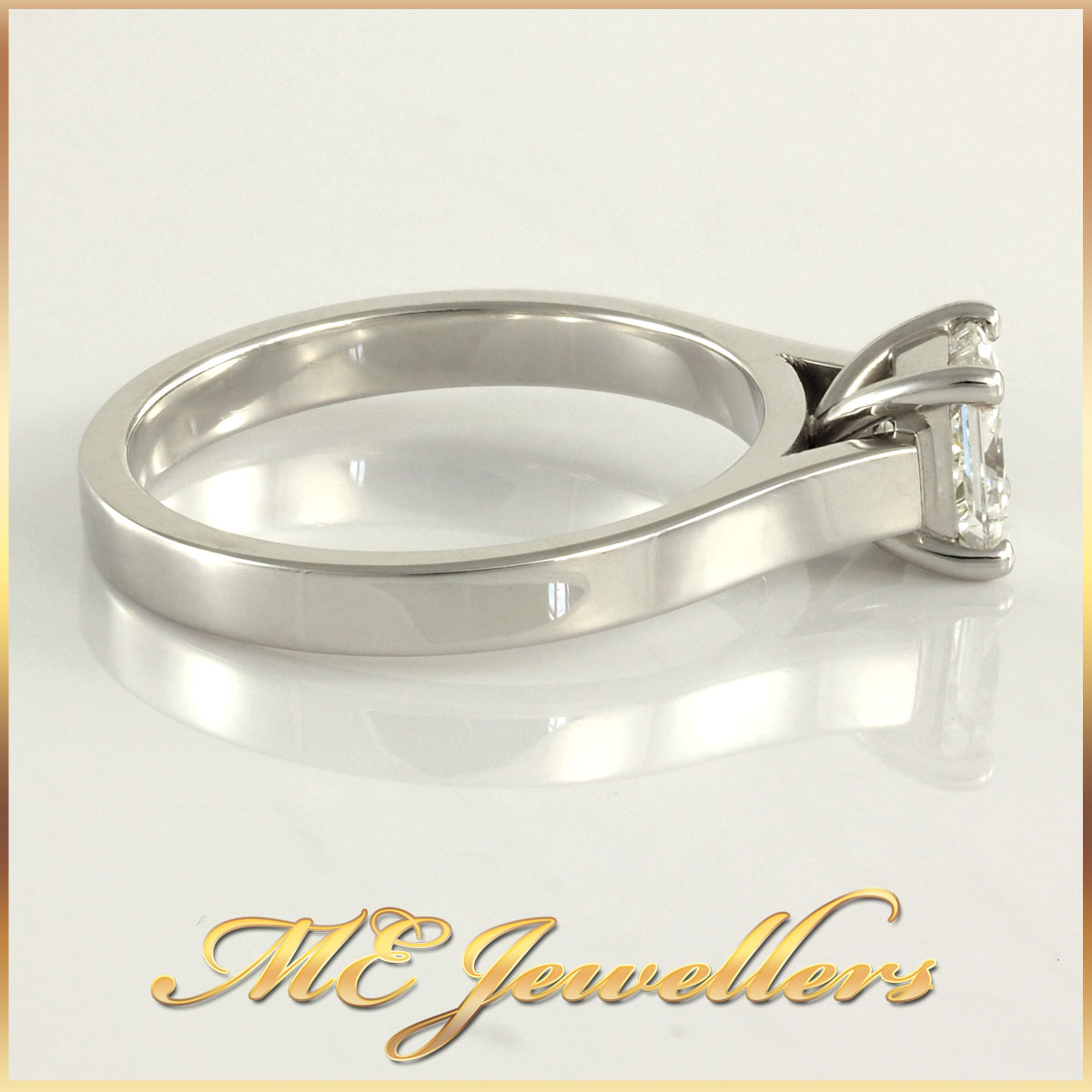 Princess Cut Diamond Ring Solitaire Style