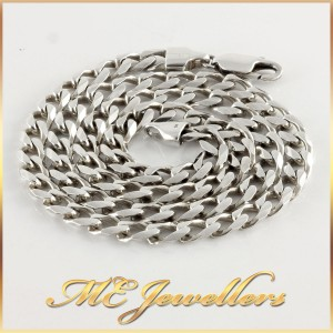Flat Curb Chain Sterling Silver