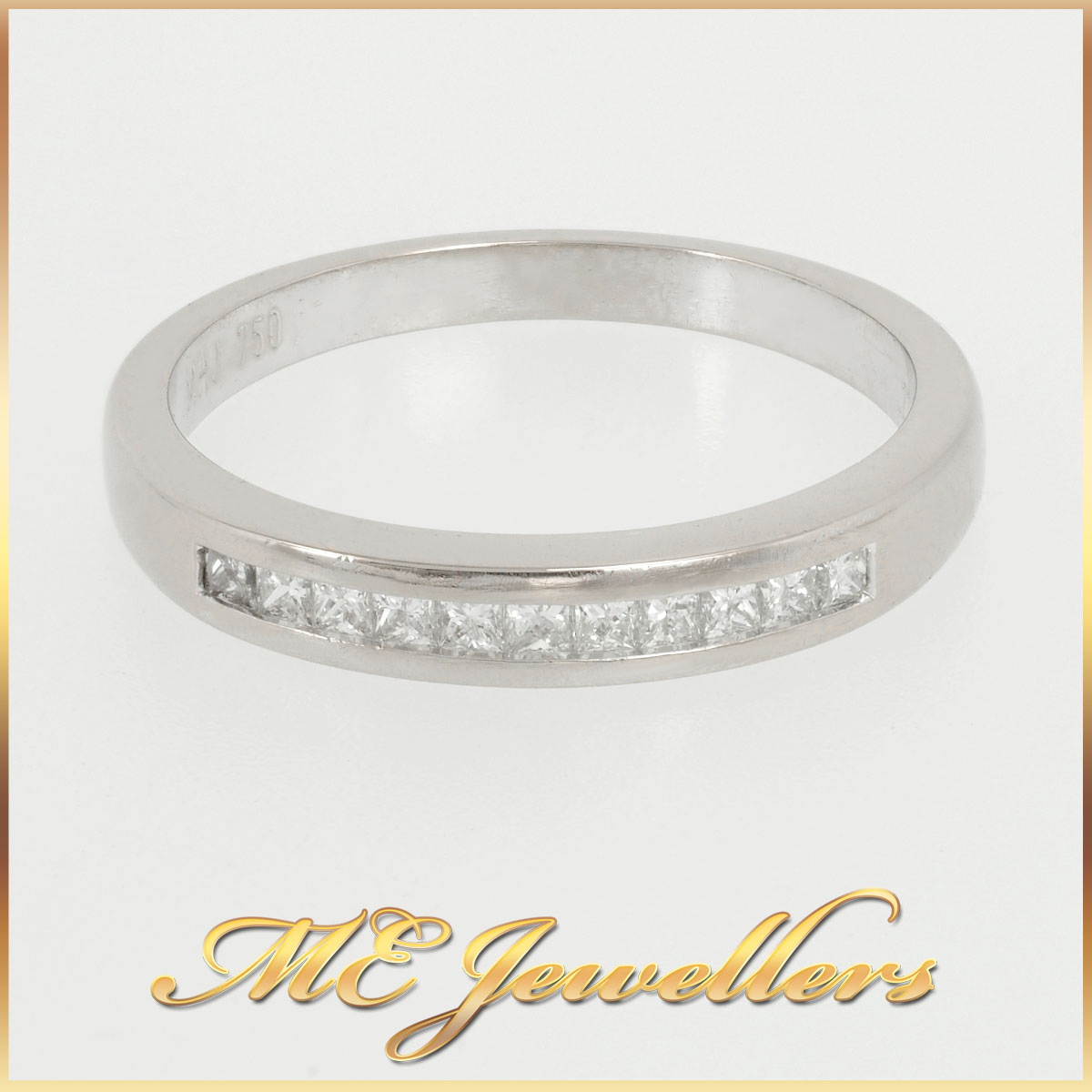 18k Ladies Channel Set Diamond Ring