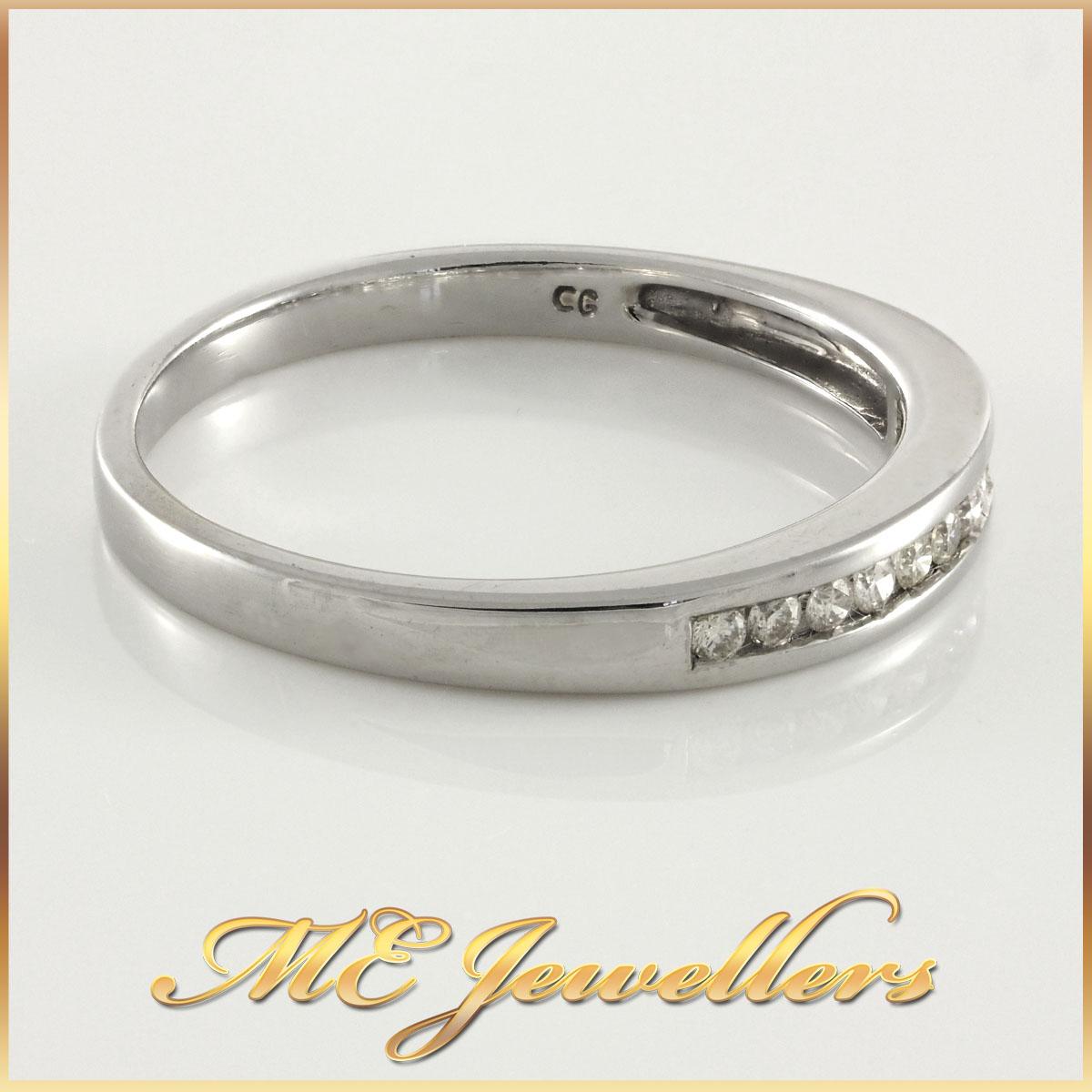 Ladies 9K Channel Set Diamond Ring