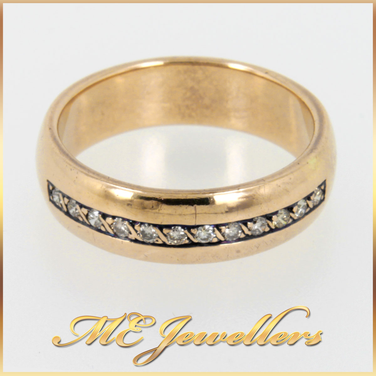 Yellow Gold Diamond Wedding Ring
