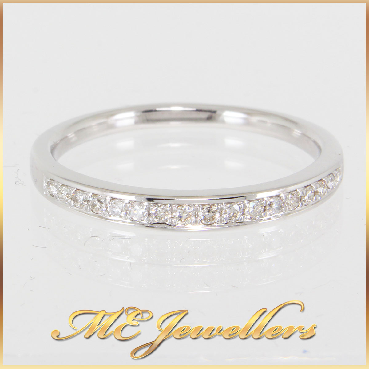 Half round Diamond Wedding Ring