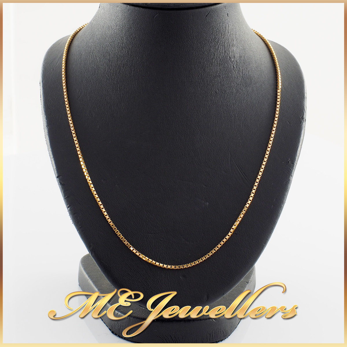 14k Gold Box Chain Necklace