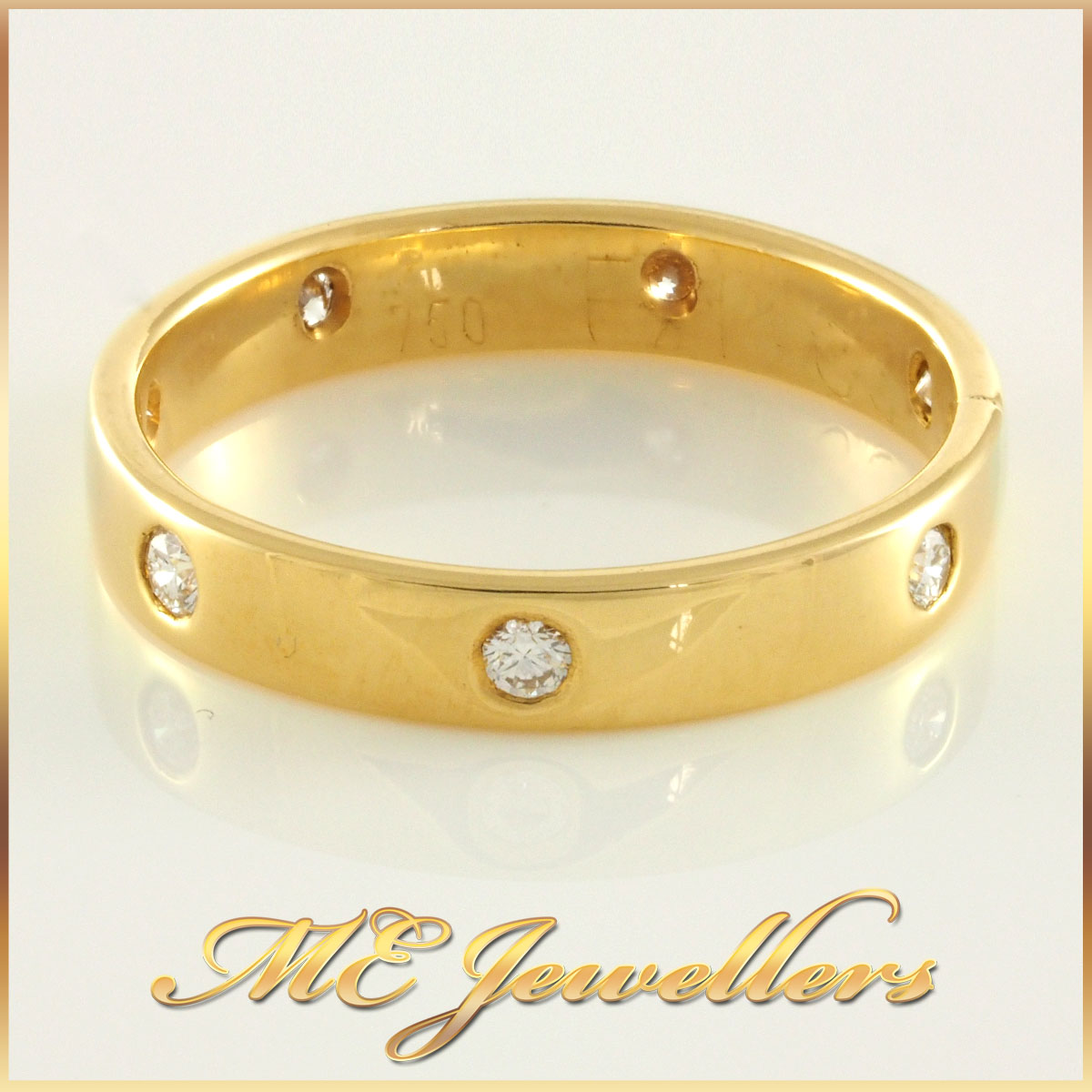Ladies Diamond Yellow Gold Band
