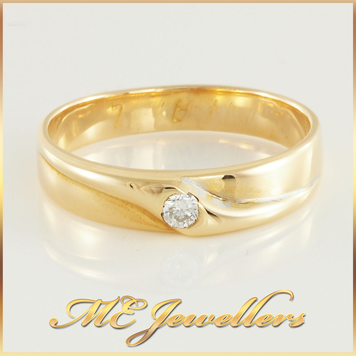 Mens Wedding Band with Diamond