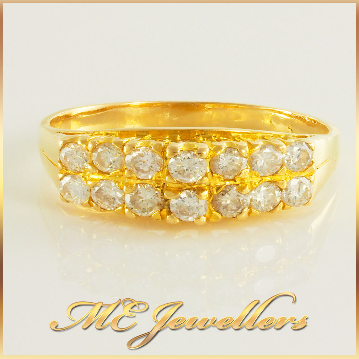 18k Gold Vintage Filigree Diamond Ring