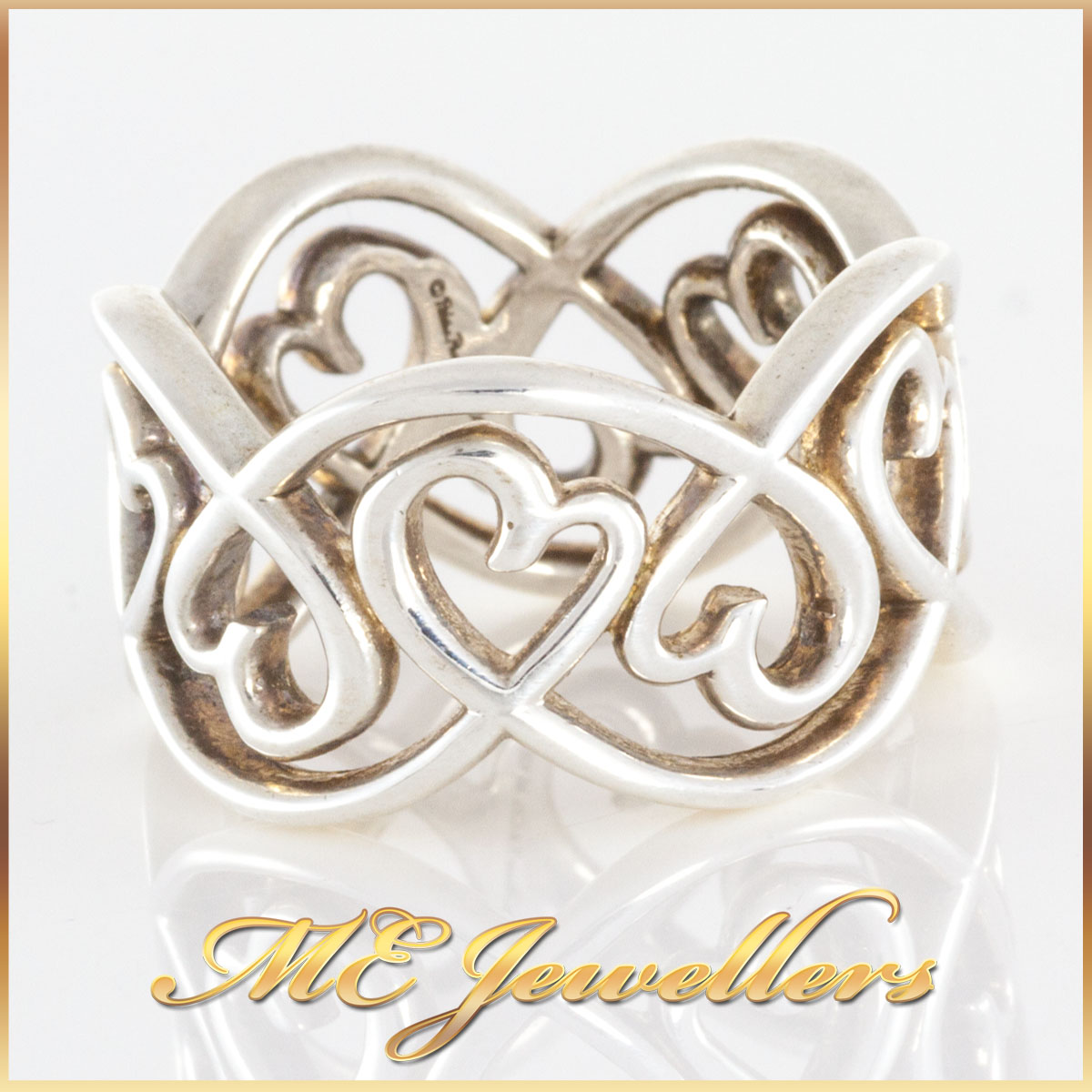 Tiffany Loving Heart Swirl Ring