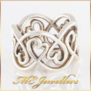 Tiffany Loving Heart Swirl Ring