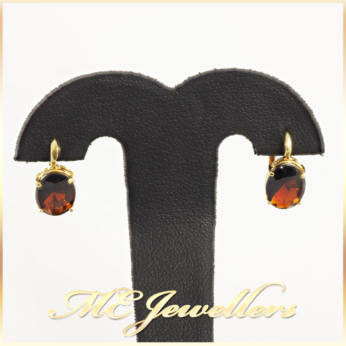 Garnet Earrings 18K Yellow Gold