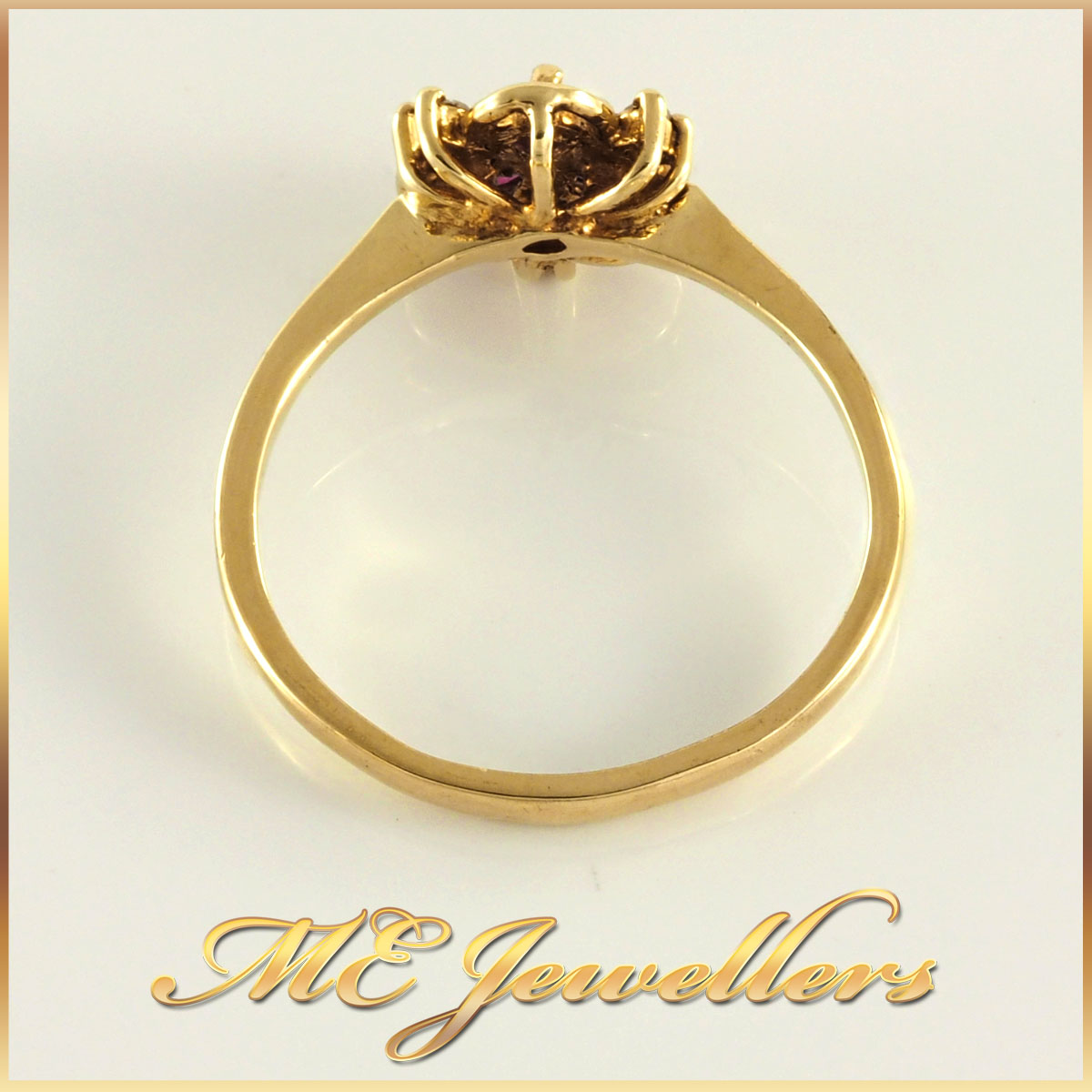 Ruby Dress Ring in 9K Yellow Gold
