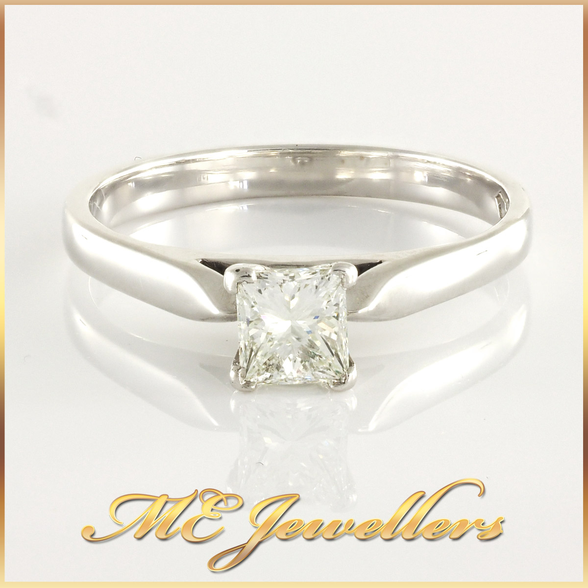 Ladies Princess Cut Engagement Ring