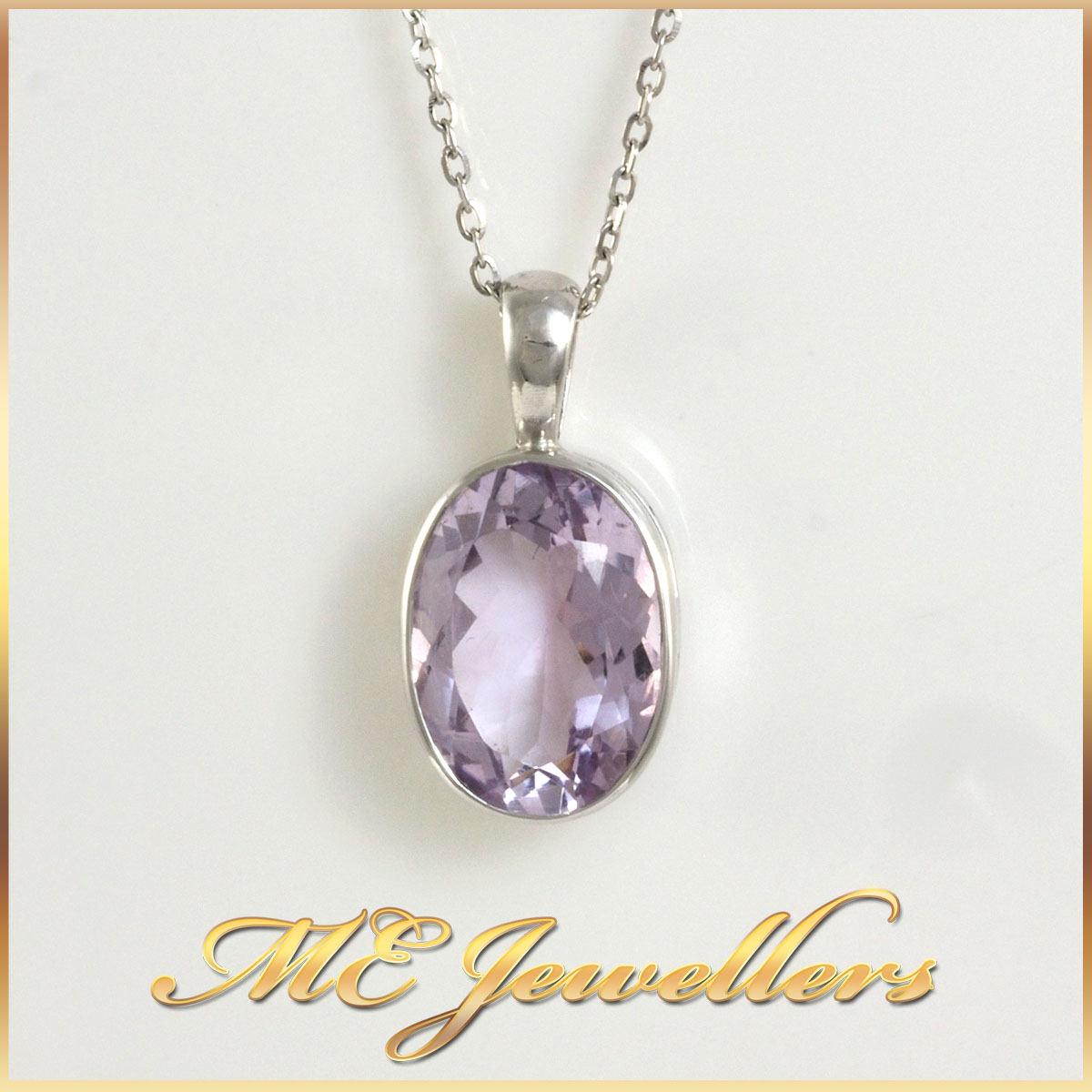 Amethyst Pendant and Chain