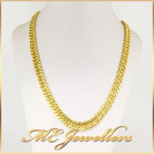 Solid 18K Yellow Gold Chain 57cm