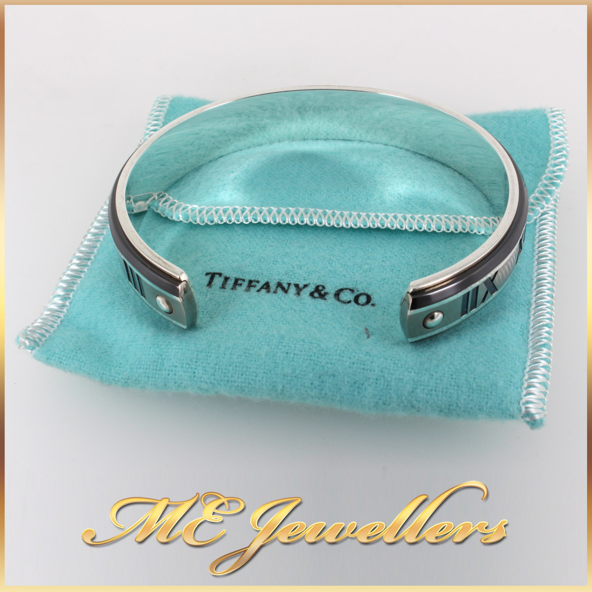 6788_Authentic TIFFANY Atlas Cuff Bangle Silver Titanium Midnight (3)