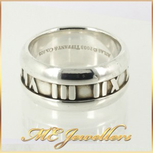 Tiffany Atlas Ring Wide Band in Sterling Silver