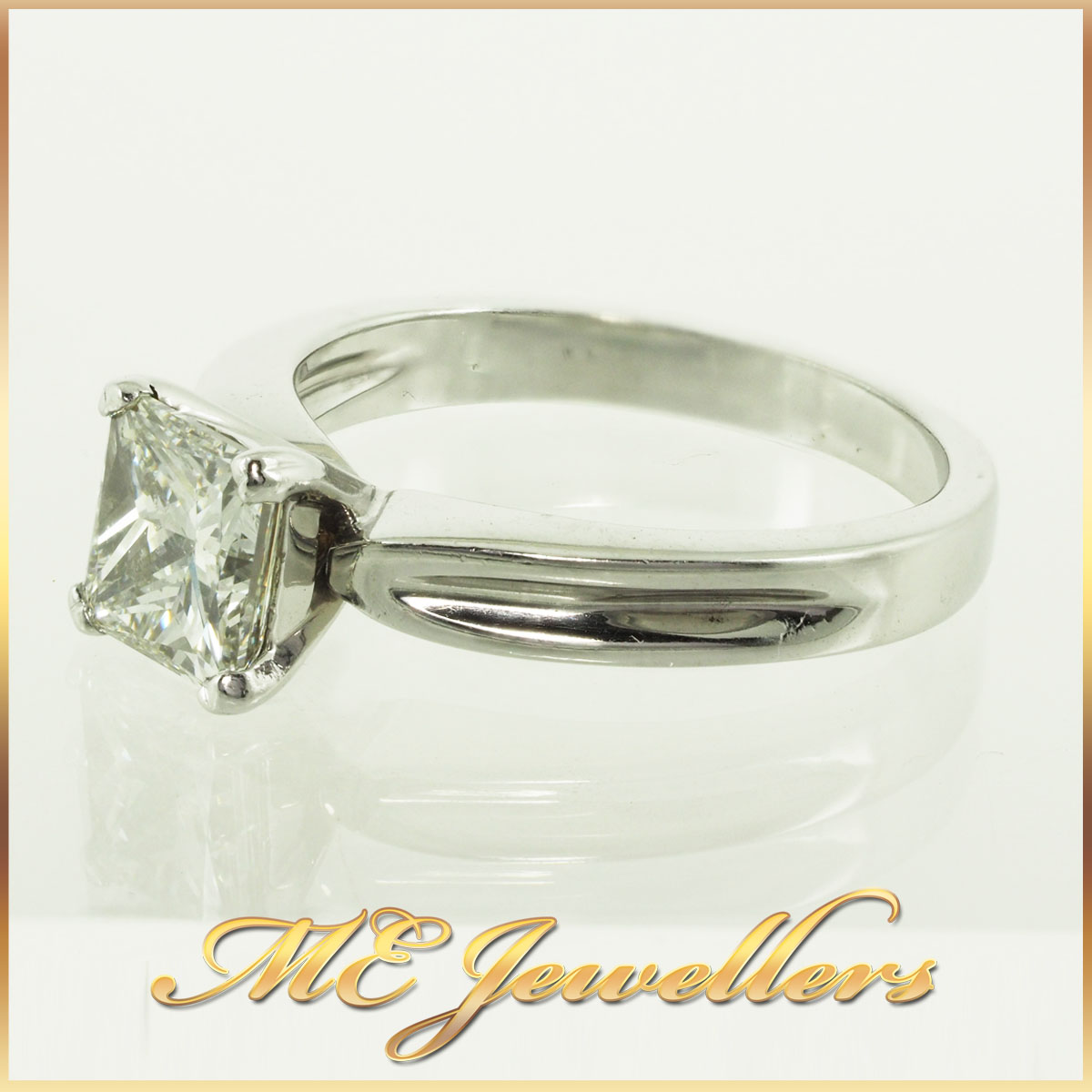 287 1.09Ct K/SI1 Princess Cut Engagement Ring 1