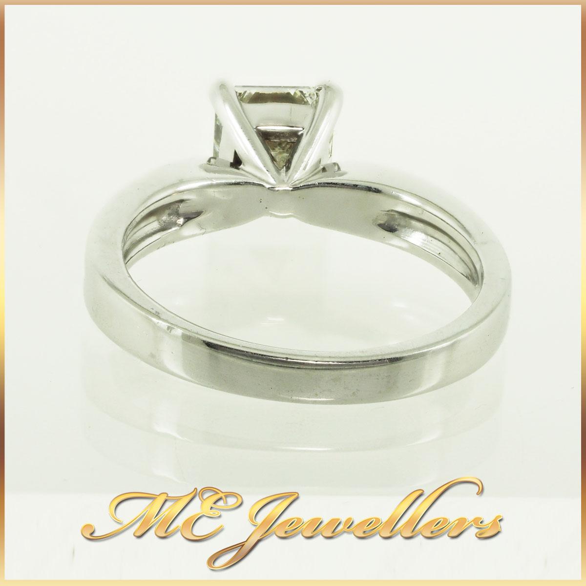 287 1.09Ct K/SI1 Princess Cut Engagement Ring 3