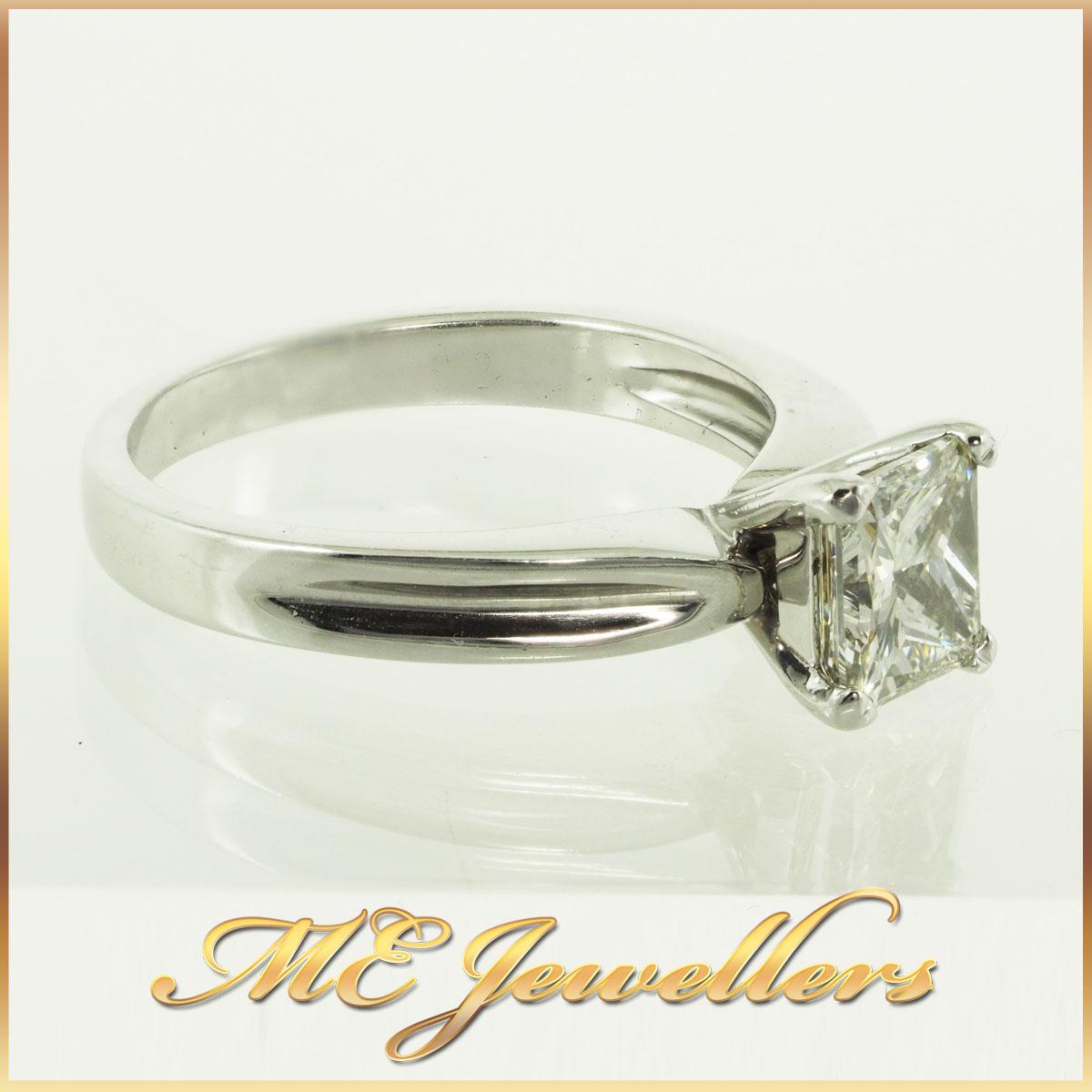 287 1.09Ct K/SI1 Princess Cut Engagement Ring 5