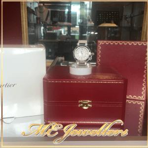Pasha de Cartier Watch Ladies White Rubber