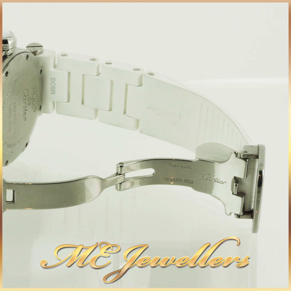 6697_Cartier Pasha De Cartier Watch White Rubber Band (1)