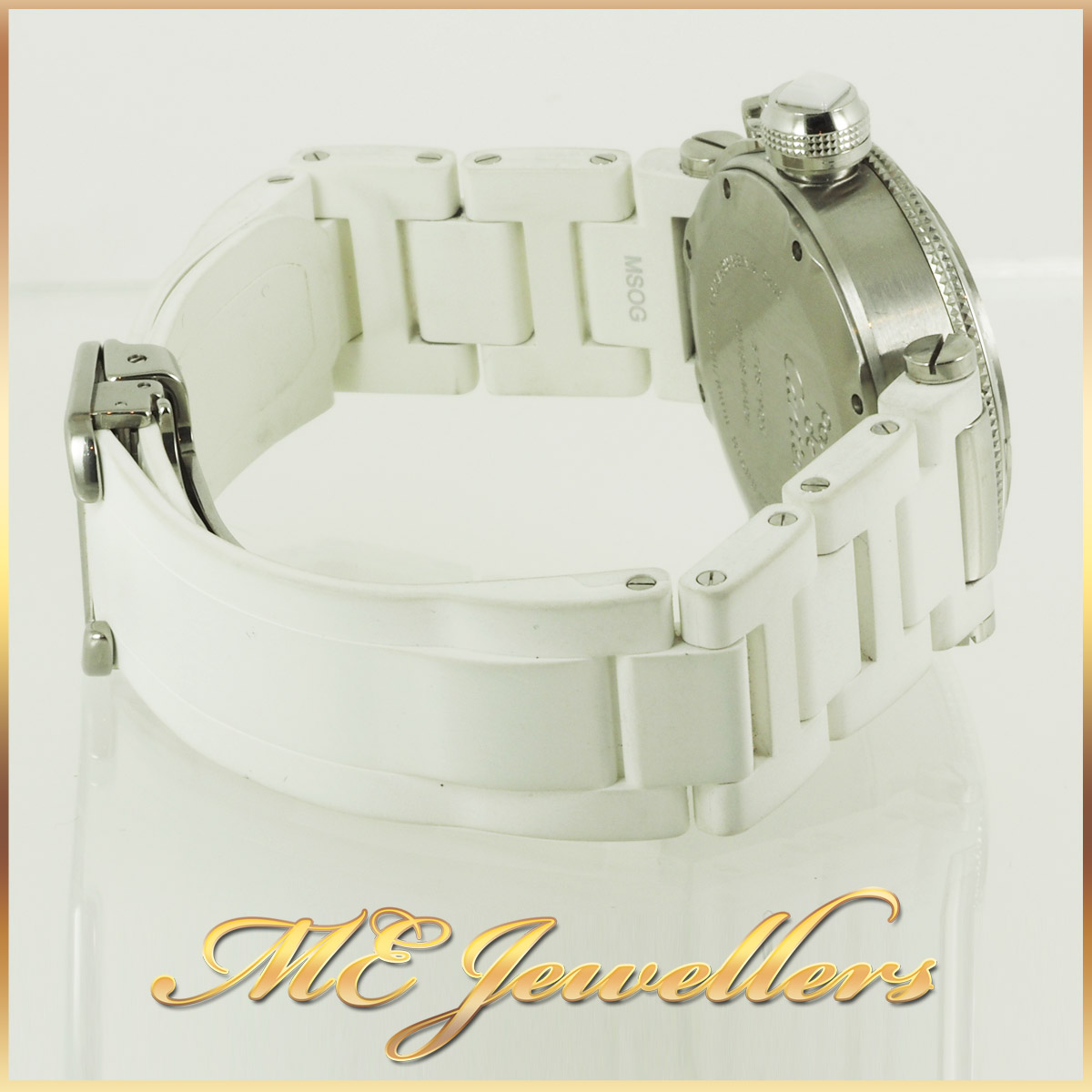 6697_Cartier Pasha De Cartier Watch White Rubber Band (3)