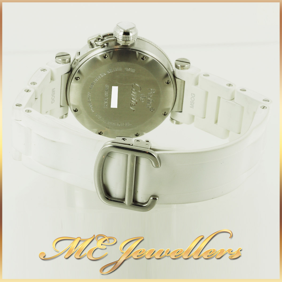 6697_Cartier Pasha De Cartier Watch White Rubber Band (5)