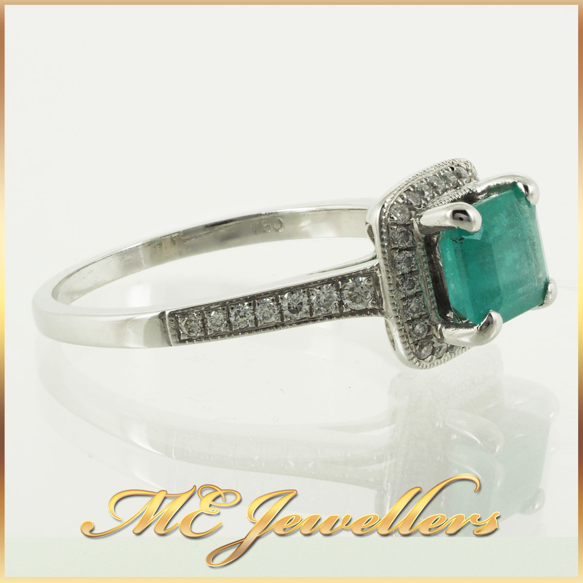 6746 natural-emerald-ring-with-diamond-18k-whg-1