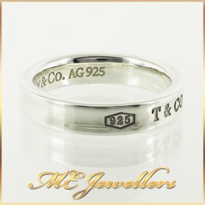 Tiffany 1837 Narrow Ring In Sterling Silver