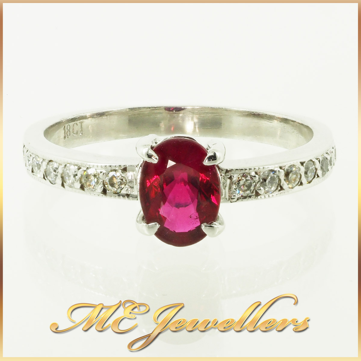 6610-african-ruby-ring-with accents diamond 18K white gold 1