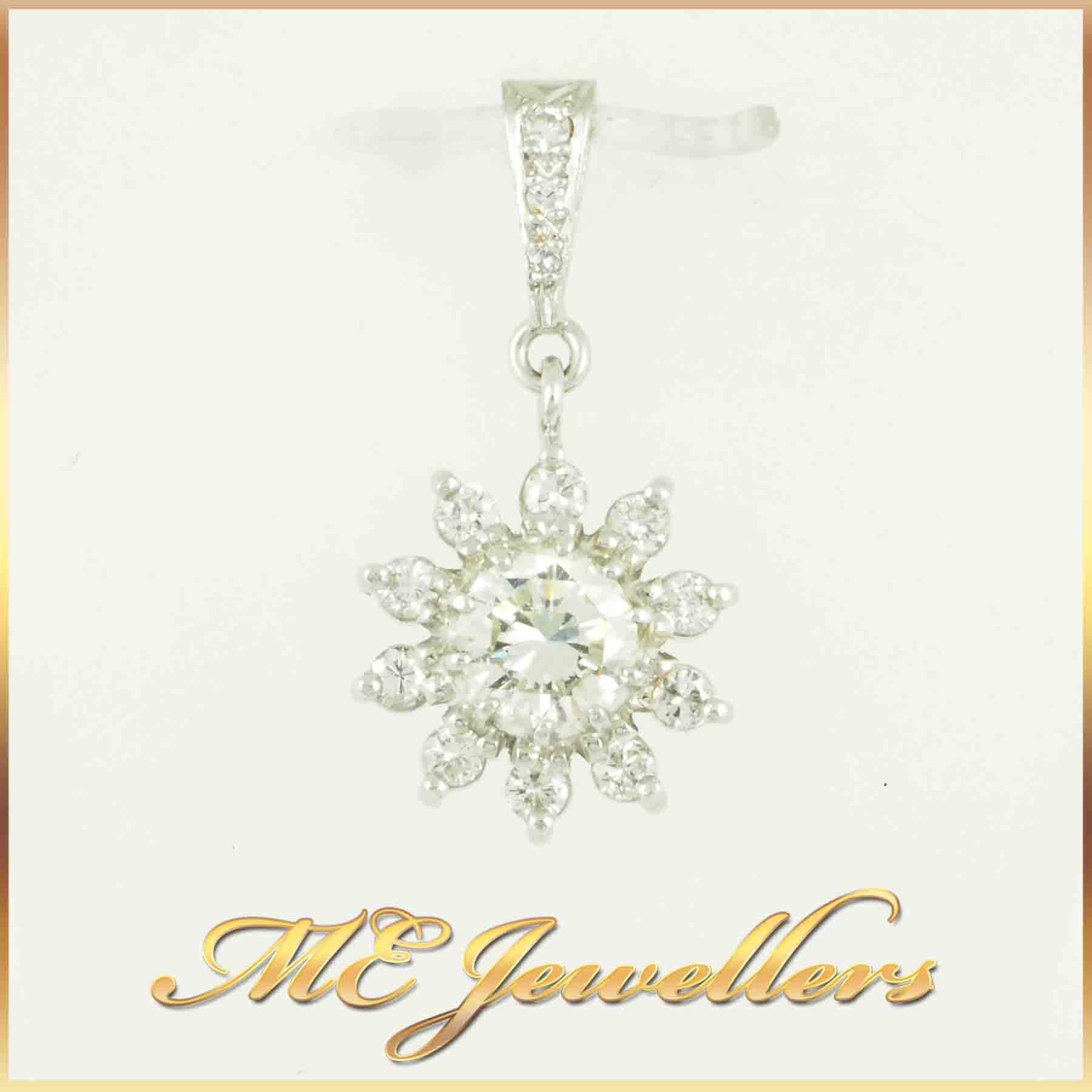 6874-Flower diamond-pendant-1