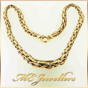 18K Gold Dress Necklace 43.5cm Long