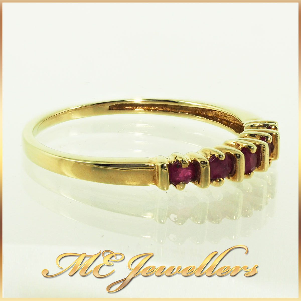 4592 Ruby Ring 10K Yellow Gold 0.20ct TCW 2