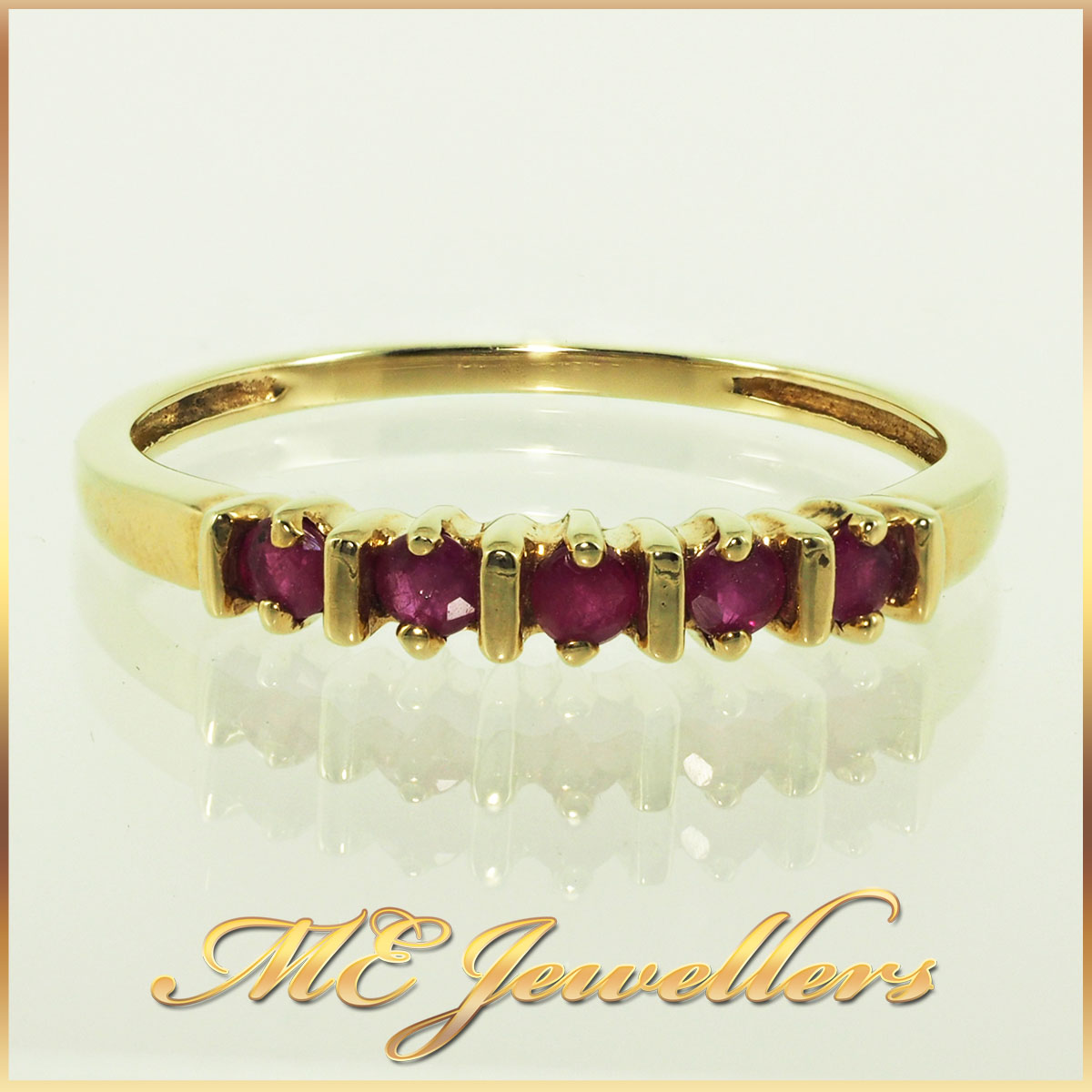 4592 Ruby Ring 10K Yellow Gold 0.20ct TCW 1