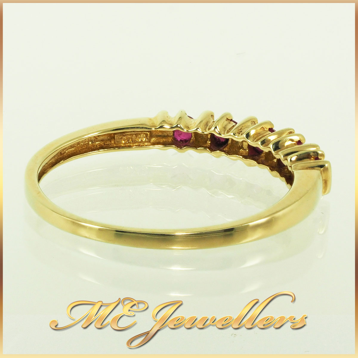 4592 Ruby Ring 10K Yellow Gold 0.20ct TCW 4