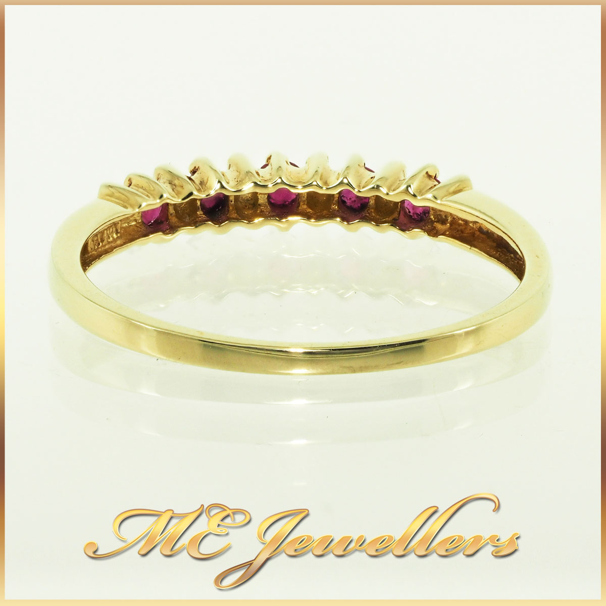 4592 Ruby Ring 10K Yellow Gold 0.20ct TCW 6