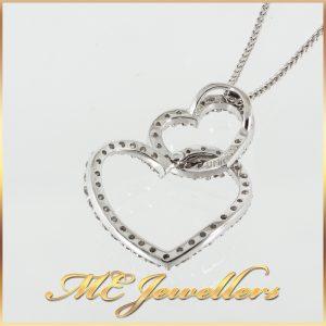 Interlocking Hearts Diamond Pendant