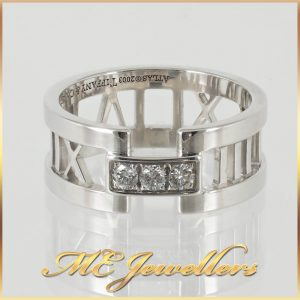 Tiffany Atlas Collection White Gold Ring