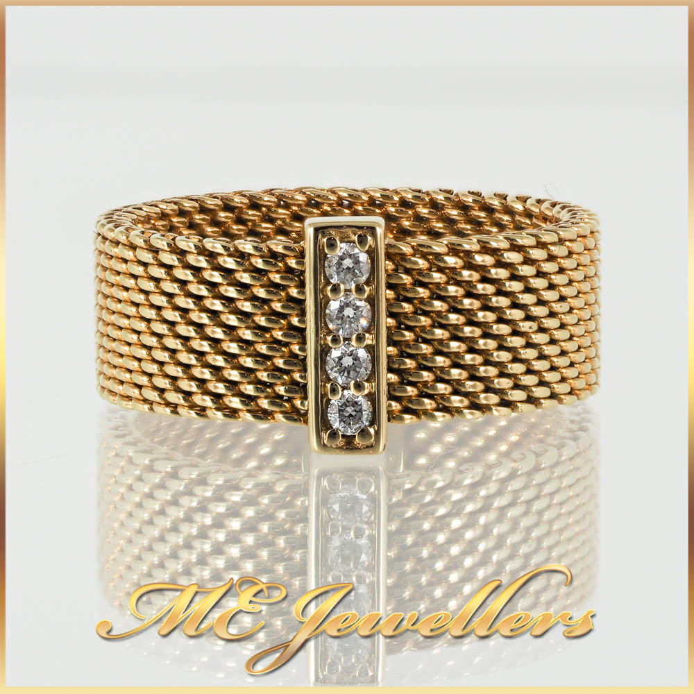 Tiffany Yellow Gold Meshed Ring
