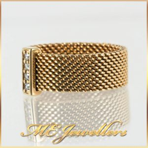 Tiffany Yellow Gold Meshed Band